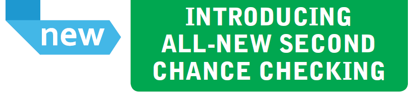 Banner image announcing new Second Chance Checking