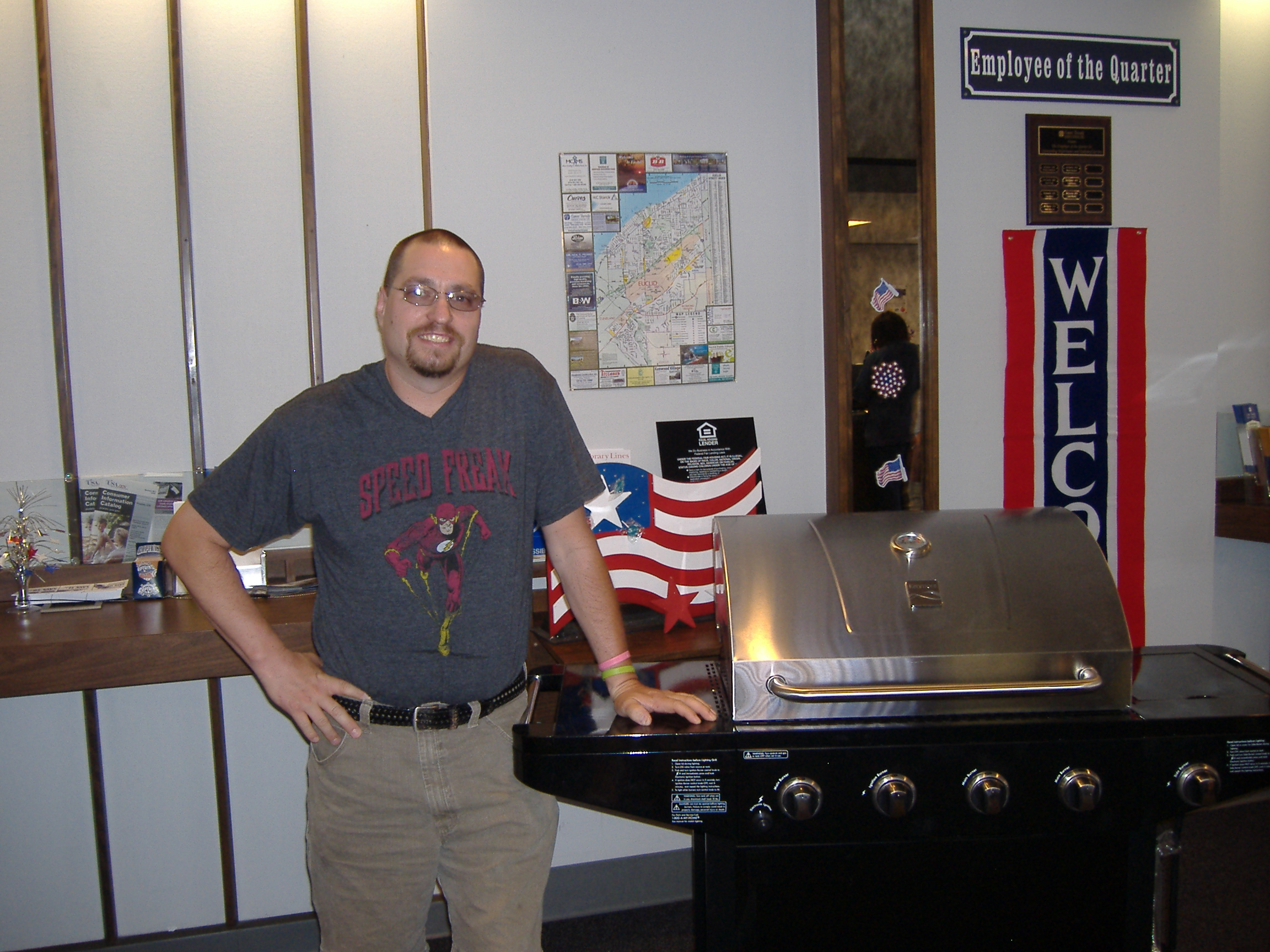 Patrick, from Cleveland, won the Kenmore grill donated by Sears